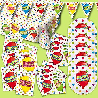 Happy birthday party package 30-teilig decorative birthday children's Party