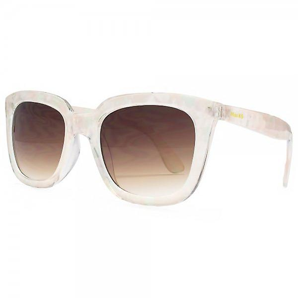 Miss KG D Frame Sunglasses In White Pearlised Crystal