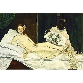 Edouard Manet - Olympia in bed Poster Print Giclee