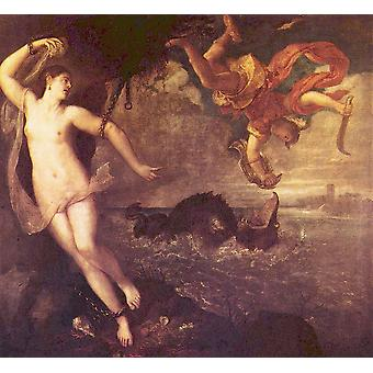 Titian - Falling Poster Print Giclee