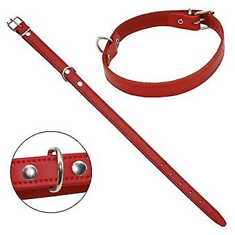 Petpall Collar Cuero Liso 45 Cm Rojo (Dogs , Walking Accessories , Collars)