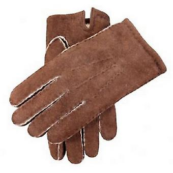 Dents Mahogany York Lambskin Gloves - Brown