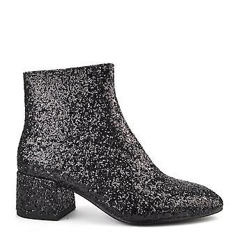 Ash calzado Dragon negro brillo, botín