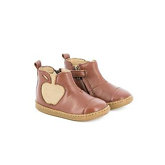 Shoo Pom Bouba Apple Brown Leather Ankle Boots