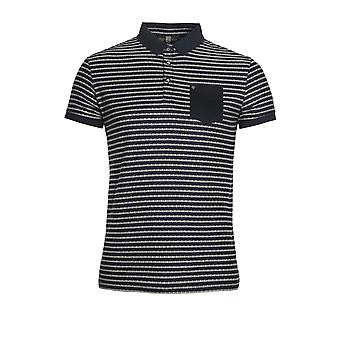 883 POLICE Royce Striped Polo Shirt | Navy