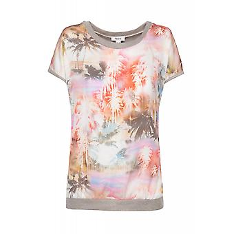 Heine shirt ladies oversized blouses shirt multicolored with Palm pattern