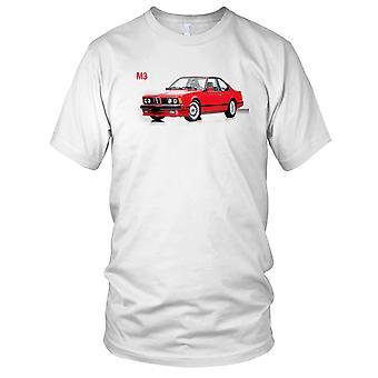 BMW M3 Classic Retro Car Mens T Shirt