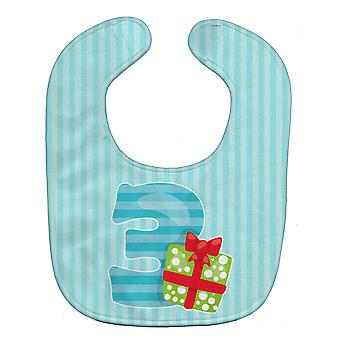 Carolines Treasures  BB8689BIB Christmas Month 3 Baby Bib