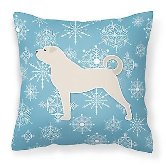 Zima śnieżynka Anatolian Shepherd tkaniny dekoracyjne poduszki