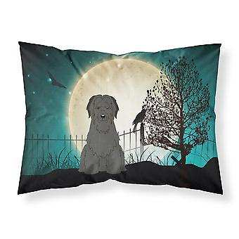 Halloween Scary Briard Black Fabric Standard Pillowcase