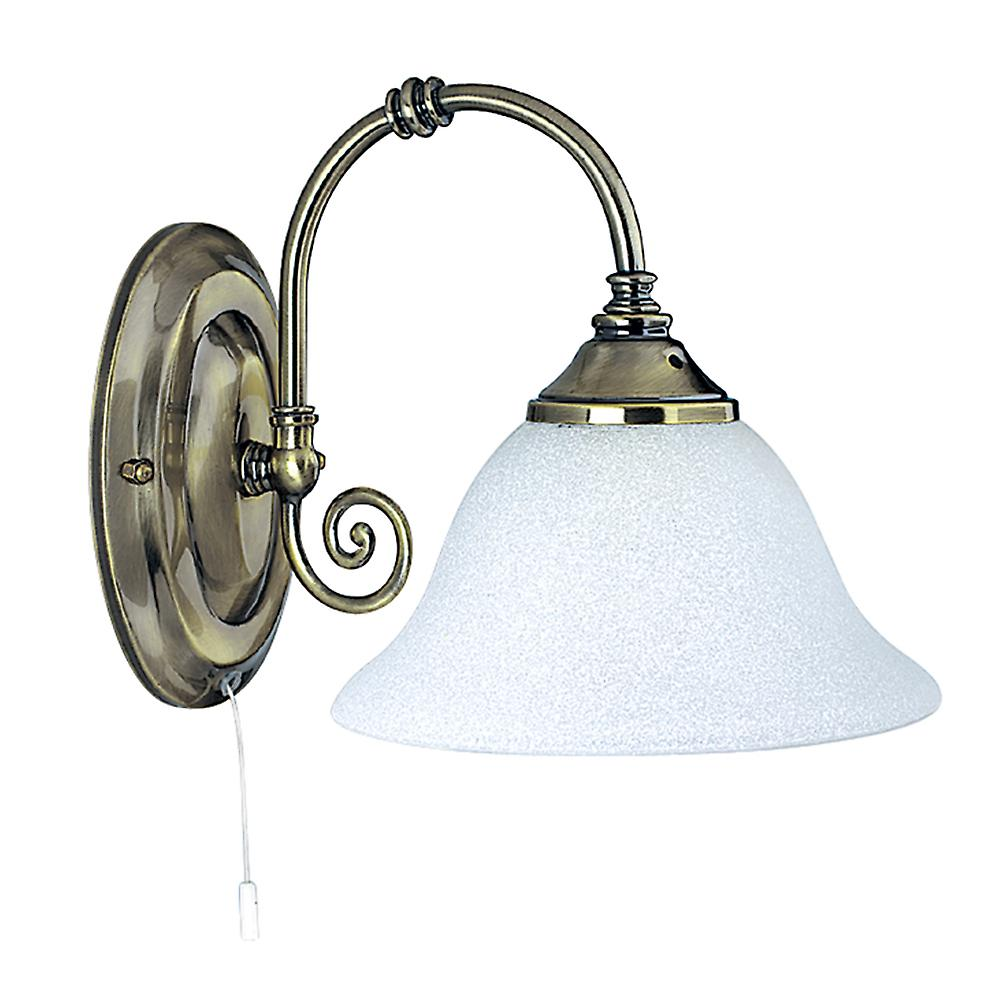 Searchlight 9351-1 Traditional Antique Brass 1 Light Wall Light
