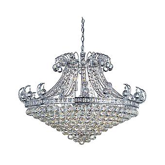 Searchlight 5048-8CC Bloomsbury 8 Light Semi Flush Ceiling Light In Chrome With Crystal
