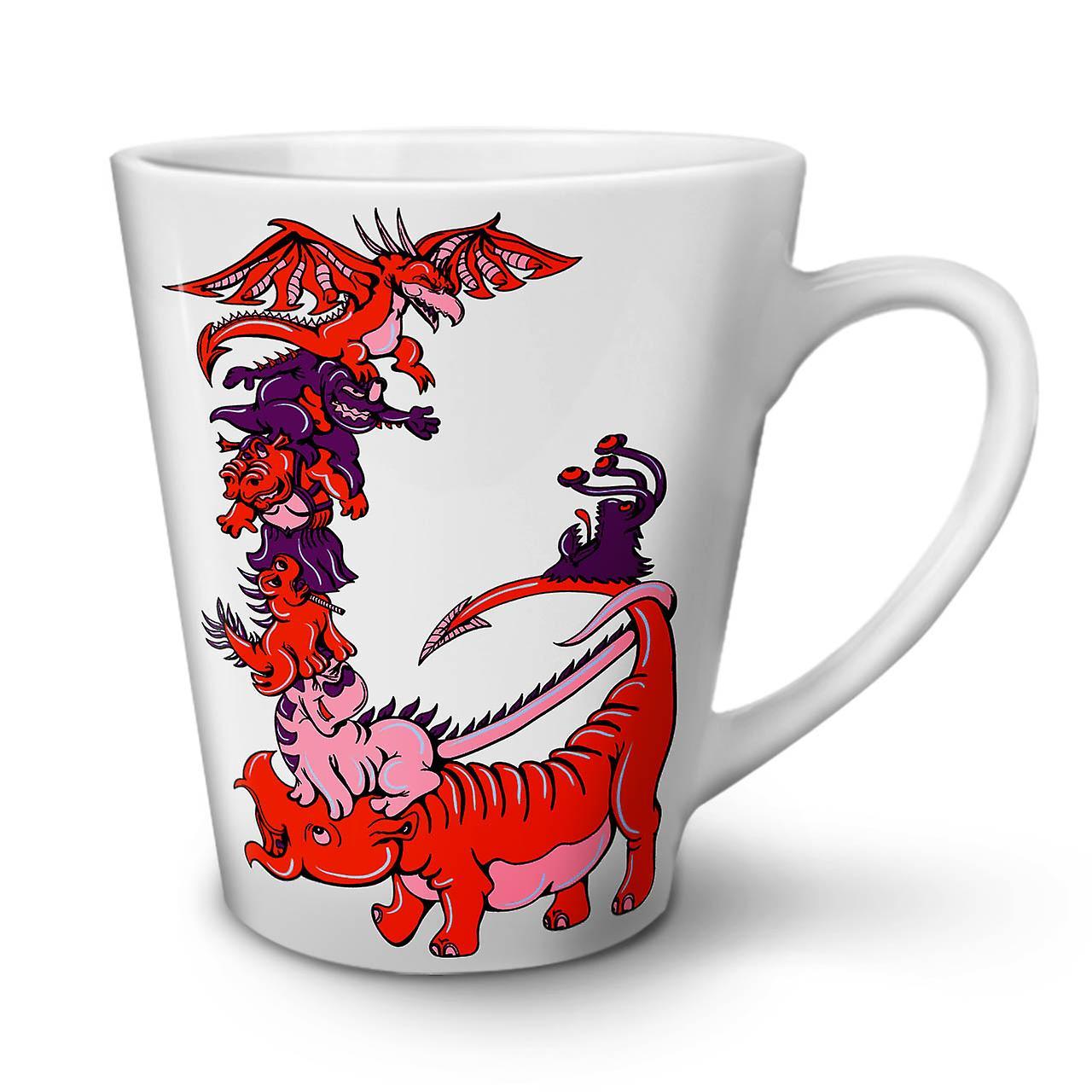 Tasse OzWellcoda Nouvelle En Animé Fantastique Café Dragon Dessin Blanche Céramique 12 Latte 6gybfY7
