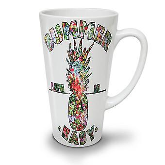 Easy Life Pineapple NEW White Tea Coffee Ceramic Latte Mug 17 oz | Wellcoda