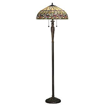 Ashtead Tiffany stil golvlampa - interiör 1900 63912