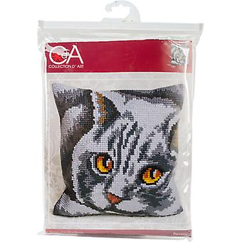 Collection D'Art Stamped Needlepoint Cushion Kit 40X40cm-Persane CD5083