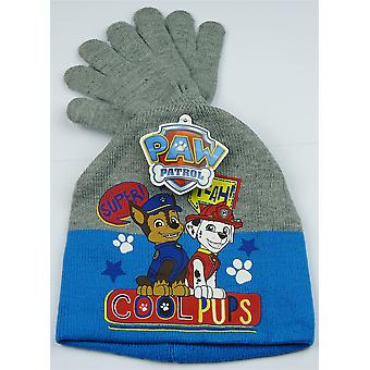 Boys HQ4218 Paw Patrol Winter 2 Piece Set Hat and Gloves