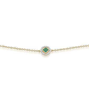 Gemondo 9ct oro giallo 0,27 ct Emerald & braccialetto di diamanti