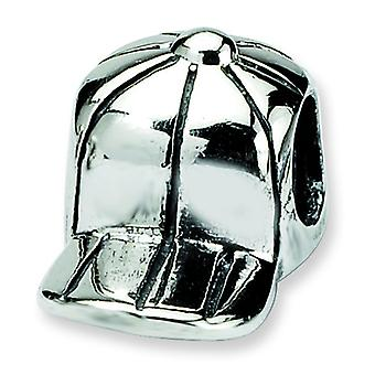 Sterling Silver Reflections Kids Baseball Cap Bead Charm