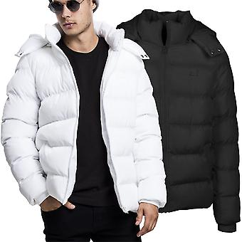 Urban classics - HOODED buffer lined quilted winter jacket