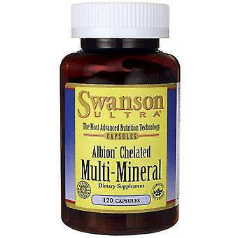 Swanson Albion Chelated Multi-Mineral 120 Capsules (Sport , Athlete's health , Minerals)