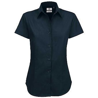 B&C Collection Sharp Short Sleeve Twill Cotton Ladies Smart Formal Work Shirt