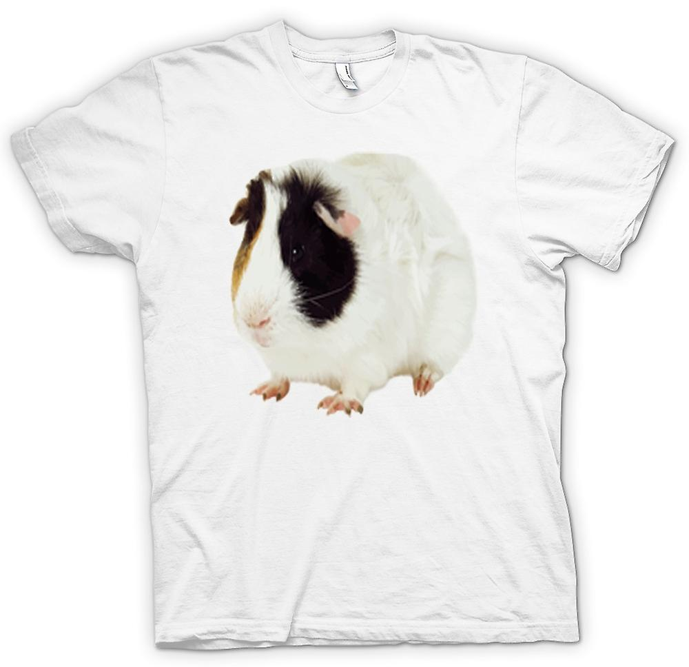 Mens t-shirt-donna di bianco e marrone di cavia