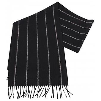 Bassin and Brown Bailey Striped Cashmere Scarf - Black/Grey