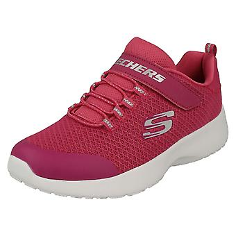 Girls Skechers Sports Trainers Rally Racer 81301 - Pink Textile - UK Size 11.5 - EU Size 29 - US Size 12.5