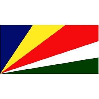 Seychelles bandeira 5 pés x 3 pés com ilhós para pendurar
