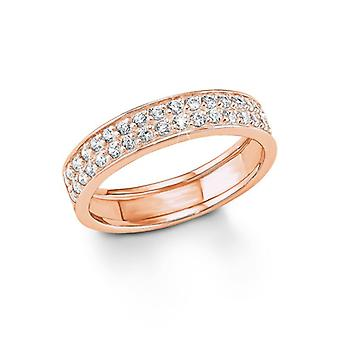 s.Oliver Jewel ladies ring silver rose gold zirconia SO1173