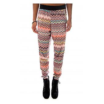 The Fashion Bible Zig Zag Print Tapered Trousers
