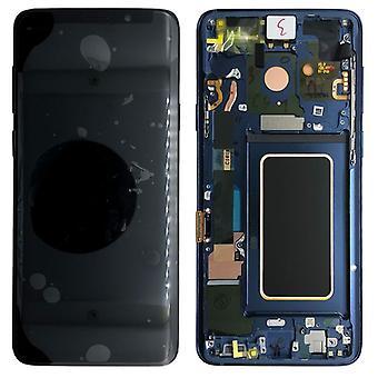 Samsung skærm LCD komplet sæt GH97 21696D blå / koral blå for Galaxy S9 G960F / S9 duos G960FD