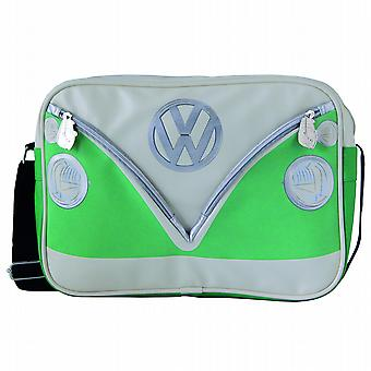 VW Camper Van PVC Retro Messenger Bag - Green