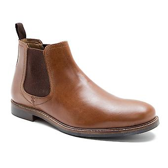 Red Tape Morley Tan Leather Mens Chelsea Boots