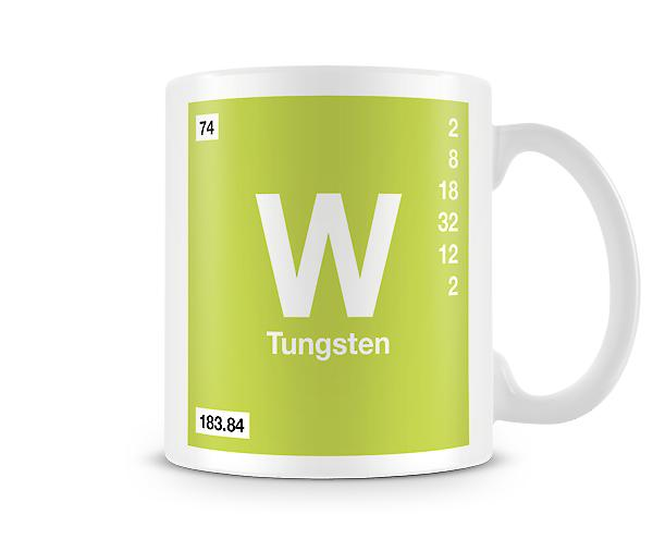 Element Symbol 074 W - Tungsten Printed Mug