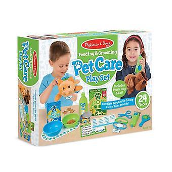Melissa & Doug Petcare Play Set alimentazione e toelettatura