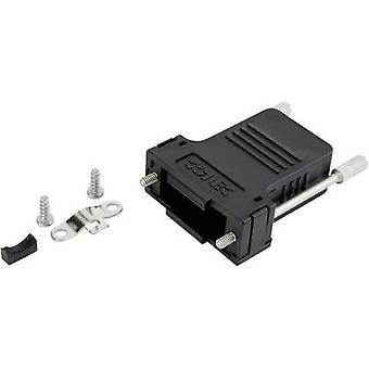 D-SUB housing Number of pins: 9 Plastic 180 ° Black Conec 165X13369XE 1 pc(s)