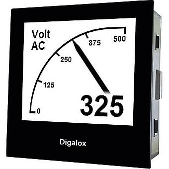 Digital rack-mount meter TDE Instruments Digalox DPM72-AV Graphical DIN-panelmeter for Voltage and Ampere TDE Instruments Digalox DPM72-AV