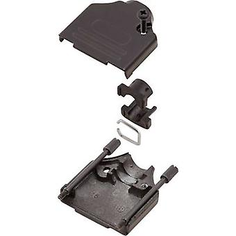 D-SUB housing Number of pins: 9 Metal 180 ° Black MH Connectors MHDTZK9-BK-K 1 pc(s)