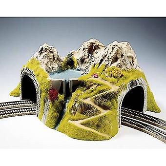 H0 Tunnel 2-track Assembled, Curved NOCH