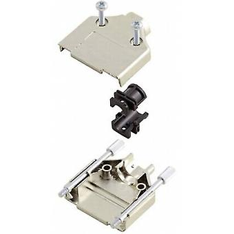 D-SUB housing Number of pins: 9 Plastic, metallised 180 ° Silver MH Connectors MHDTPK-9-K 1 pc(s)