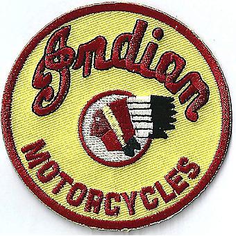 تصحيح الحديد-في/خياطة-على القماش الهندي الدراجات النارية (أصفر) جولة