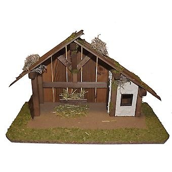 Crib Nativity scene wood Nativity stable SAMSON hand work for characters up to 11 cm
