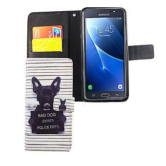 Telefono cellulare custodia per cellulare Samsung Galaxy J7 2016 di bianco cane cattivo