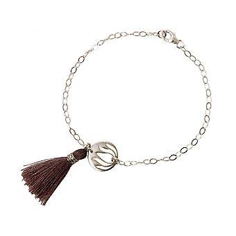 925 Silver - Lotus Flower - tassel - rose - YOGA - bracelet-