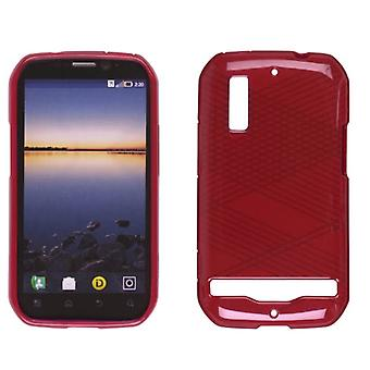 Wireless Solutions Dura-Gel Case for Motorola Photon 4G MB855 / Electrify MB853 (Criss Cross Red)