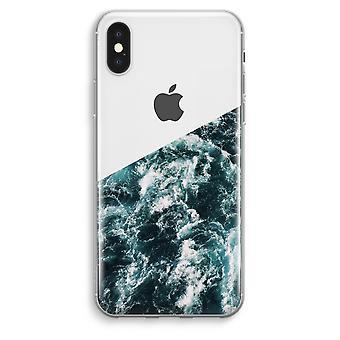 iPhone przezroczysty Max XS - Ocean Fala