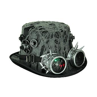 Steampunk Time Traveler Top Hat With LED Flashing Goggles