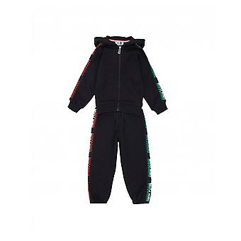 Moschino Taped Logo Tracksuit With Hood